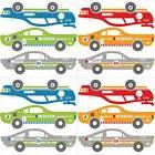 RALLY RACE CARS 12 BiG Wall Decals Racecars Red Blue Green R