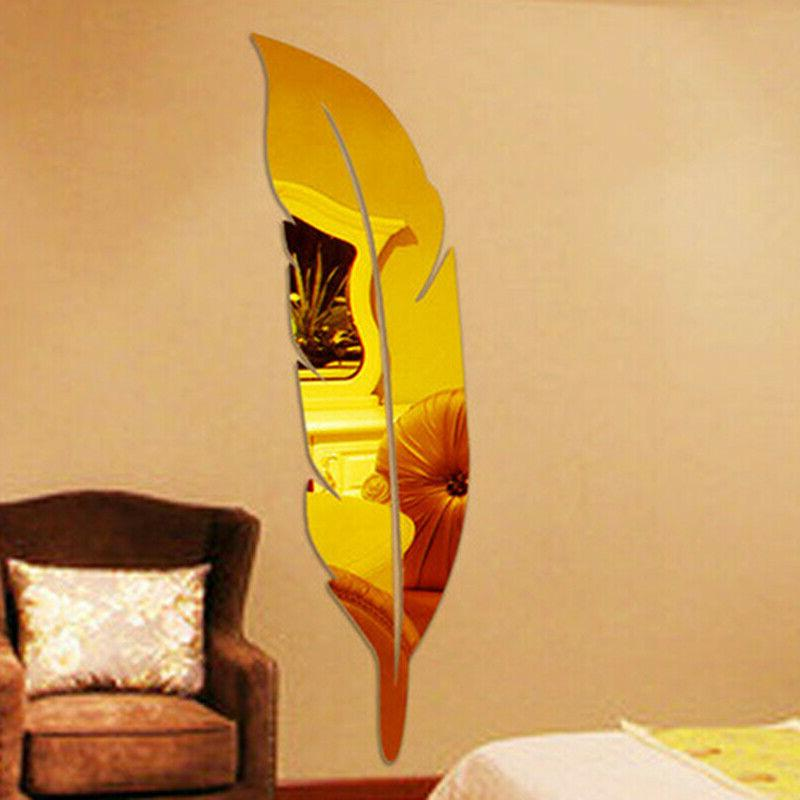 Removable 3D Mirror Decal Art Vinyl Home Decor US