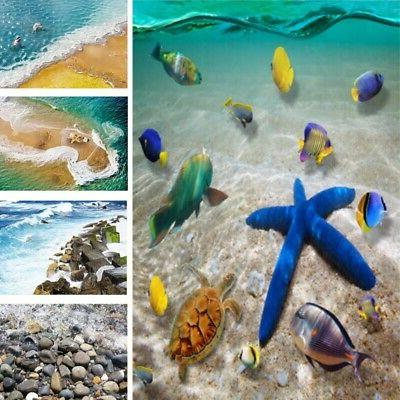 Removable 3D Sea Beach Floor Wall Sticker Decals Vinyl Mural