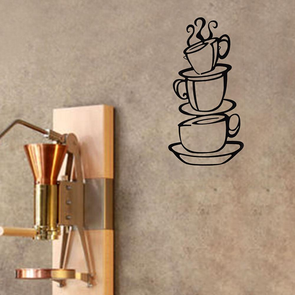 Removable DIY Tea Cups Decor Cafe Decals Wall Stickers