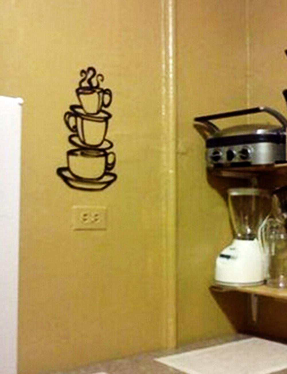 Removable Tea Cups Kitchen Decals Vinyl Wall