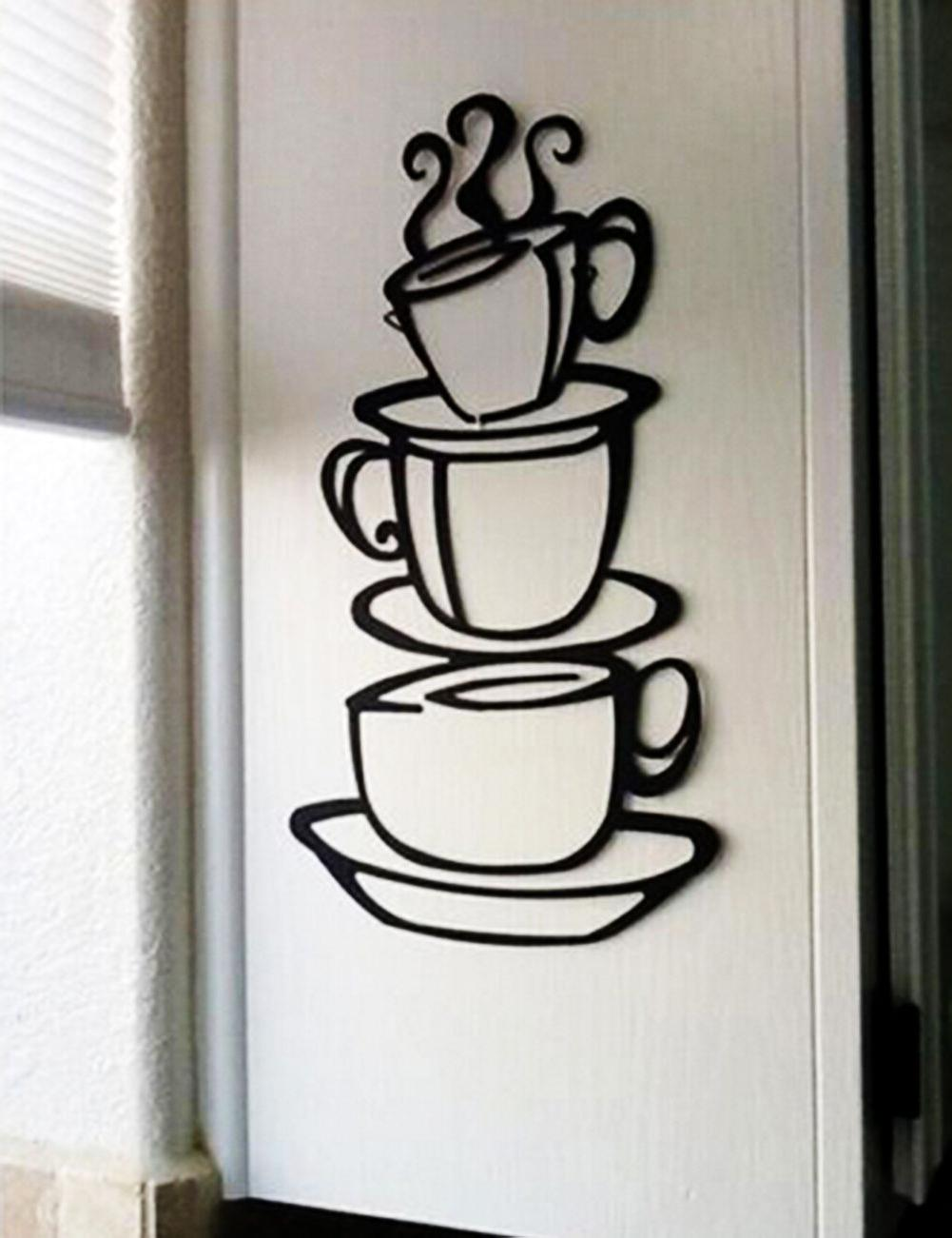 removable diy coffee tea cups kitchen decor