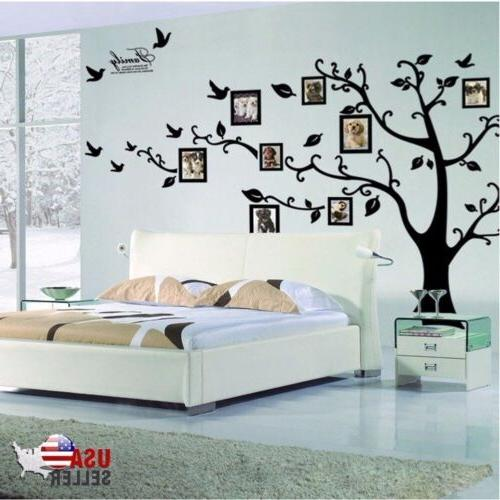 Removable Family Tree Decal Large Photo Black