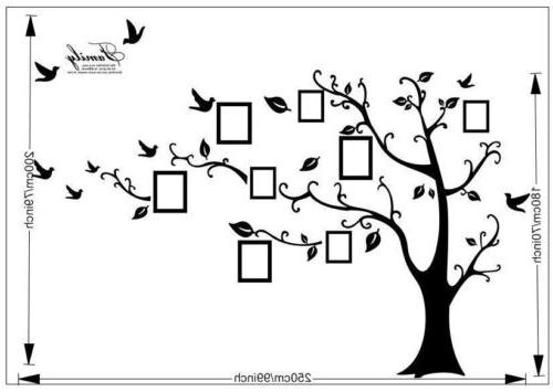 Removable Family Tree Wall Decal Sticker Vinyl Photo Black