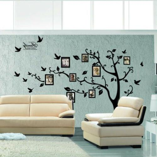 Removable Family Tree Wall Decal Sticker Photo Pictures Black