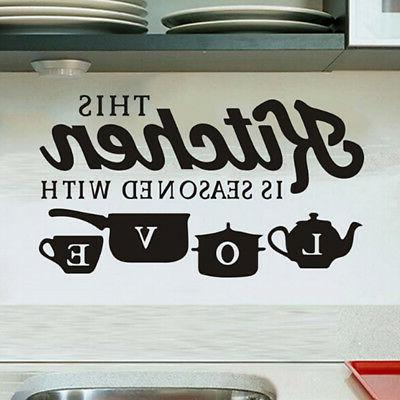 Removable Kitchen Wall Sticker Vinyl Home