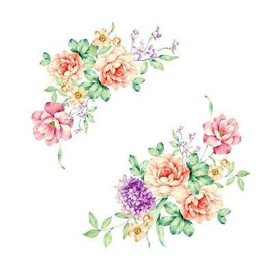 removable peony floral diy wall stickers 3d