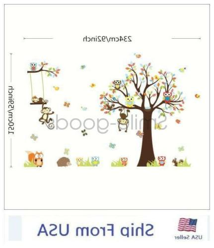 Removable Tree Decals Nursery Decor