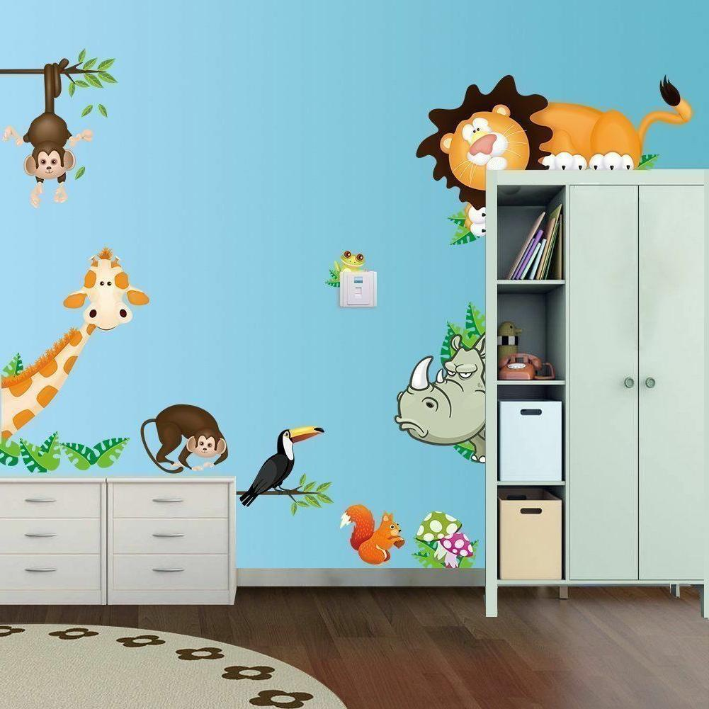 Removable Baby Nursery Jungle Animals New