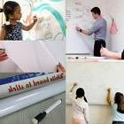 Removable WhiteBoard Wall Paper Sticker Dry Erase Office Vin