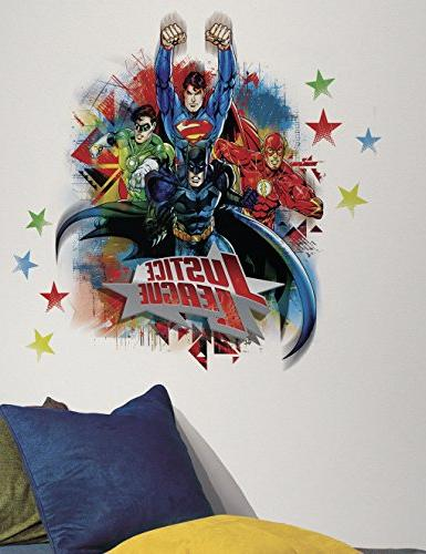 RoomMates RMK2165GM Justice League Peel and Stick Giant Wall