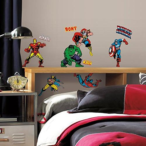 Roommates Rmk2328Scs Marvel Character Decals, Count