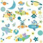 ROCKET DOG 51 BiG Wall Decals Room Decor Stickers SPACE SHIP