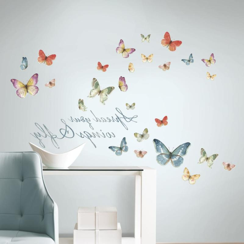 Roommates Rmk3263Scs Lisa Audit Butterfly Quote Peel And Sti