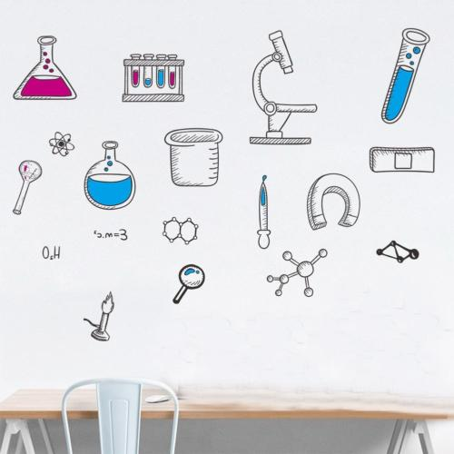 BIBITIME Laboratory Decals Element Tool Stickers for