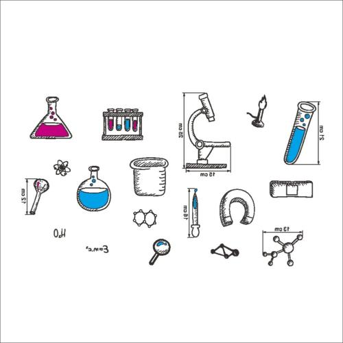 BIBITIME Laboratory Decals Tool Stickers for