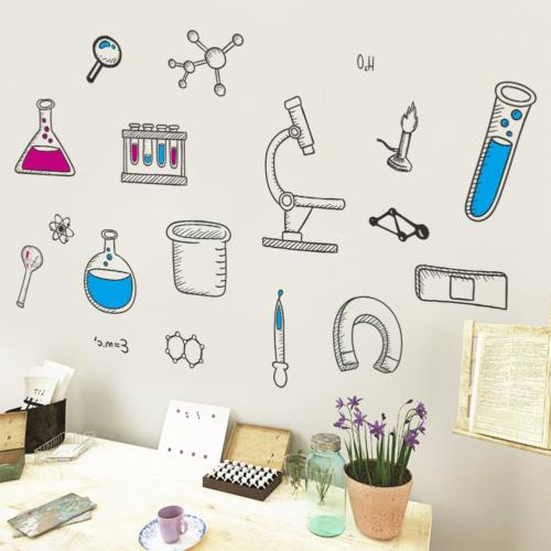 BIBITIME Science Laboratory Decals Vinyl Tool Stickers for