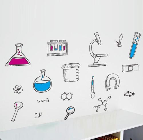 science laboratory wall decals vinyl chemical element