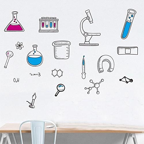 BIBITIME Laboratory Decals Tool Stickers for Classroom Student Study Room Decor Home Art Decorations