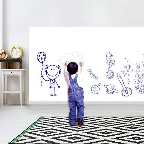 Prefer Self-Adhesive Wall Strong & Durable Erase Paper Board School & Home with 1PCS