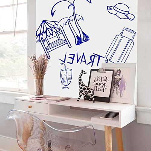"""Prefer Self-Adhesive Whiteboard Wall × 17.5"""" Extra Strong & Erase Wall Paper Board for Kids, School & Home 1PCS Marker"""