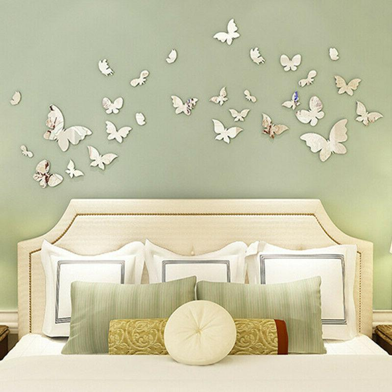 Shiny Butterfly 3D Wall Removable