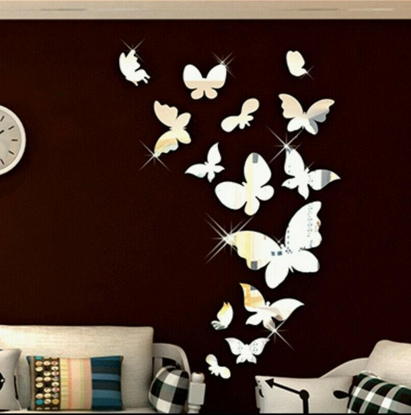 Shiny Mirror Wall Sticker Wall Decals Removable