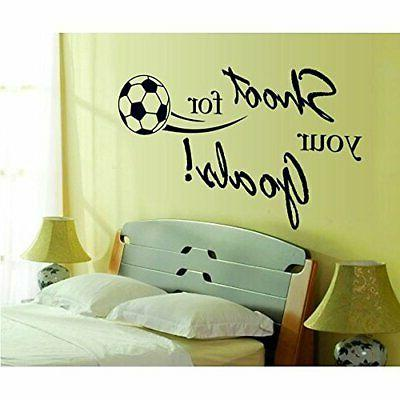 BooDecal Goals Soccer Poster Quotes Wall