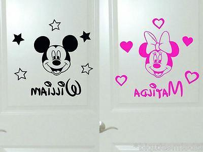 Small Minnie Mouse Mickey Mouse Heads Wall Stickers Bedroom