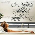 SOAK RELAX ENJOY Bathroom Wall Art Quote Sticker Vinyl Decal