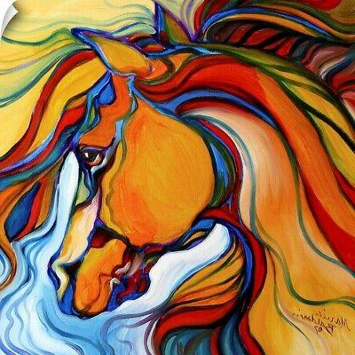 southwest abstract horse wall decal