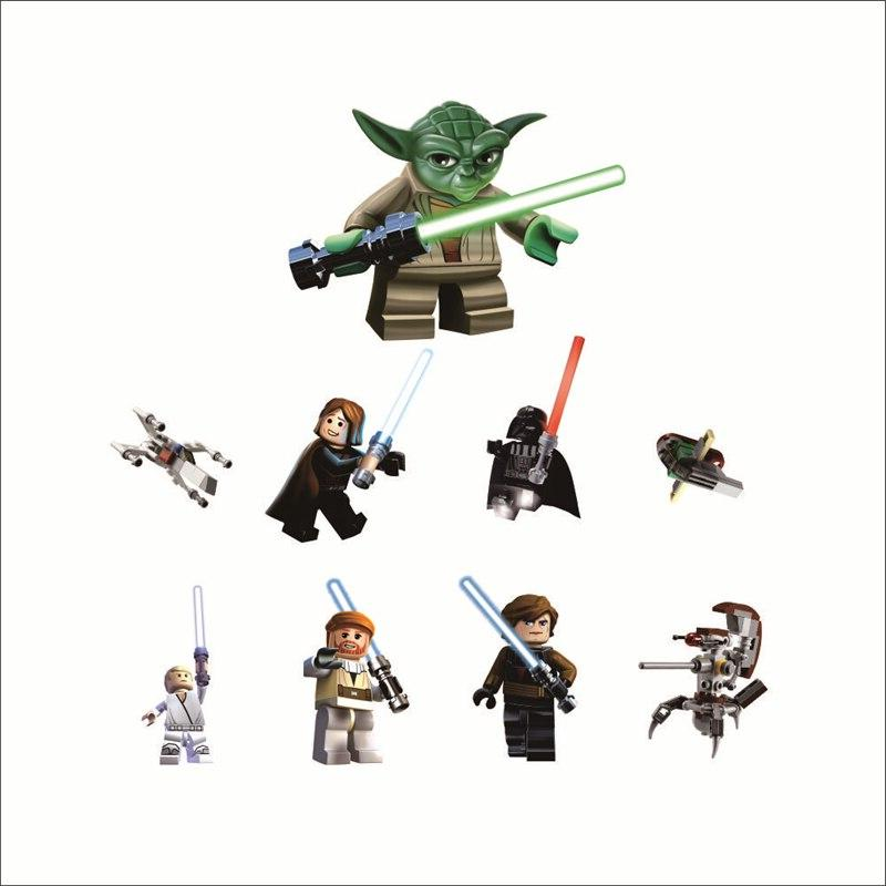 Star Wars movie stickers kids rooms decoration 1428. diy yoda children gift mural 3.5