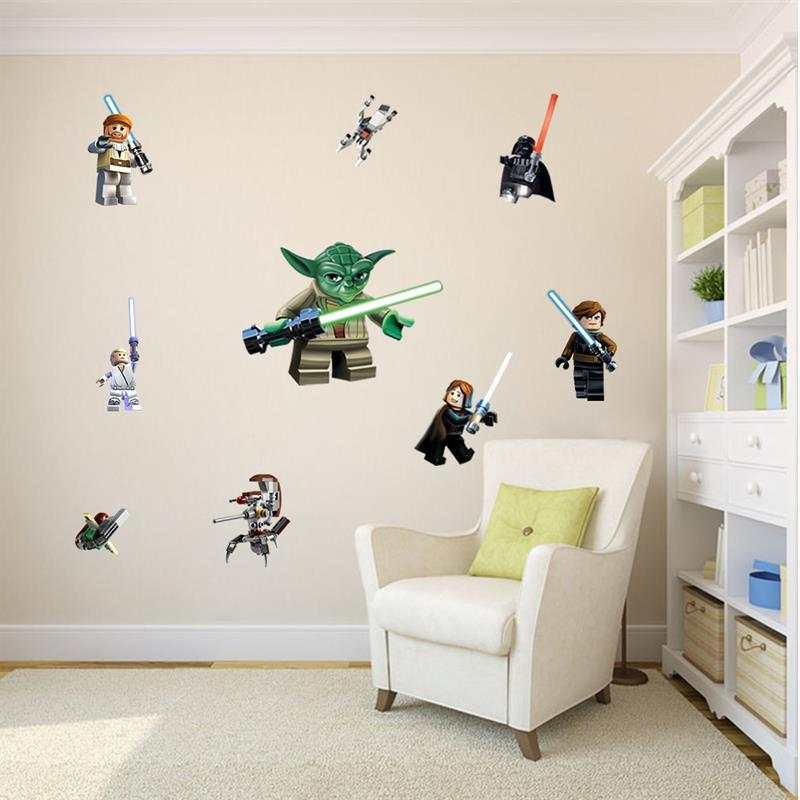 Star Wars stickers kids rooms decoration 1428. yoda <font><b>decals</b></font> children mural <font><b>print</b></font> 3.5
