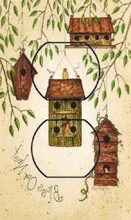 SwitchStix Starry Birdhouse Single Duplex Peel and Stick Out