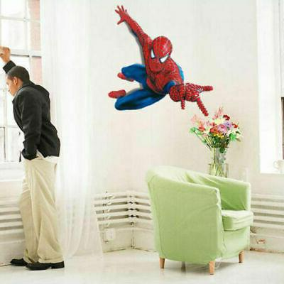 US! 3D Removeable Spiderman Wall Mural Kids Decor