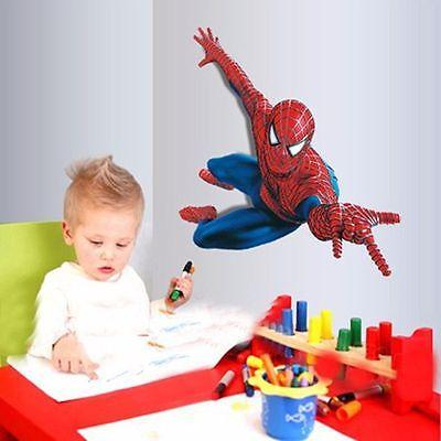 US! 3D Removeable Spiderman Mural Decal Decor