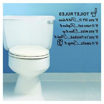 Toilet Wall Art Decals Home