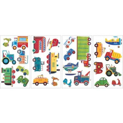 RoomMates Transportation Stick Wall Decals