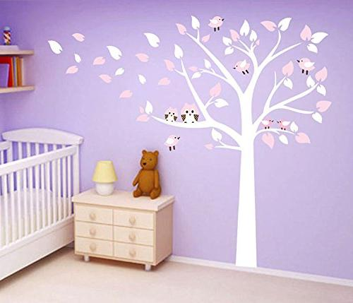 tree cute owls wall decals