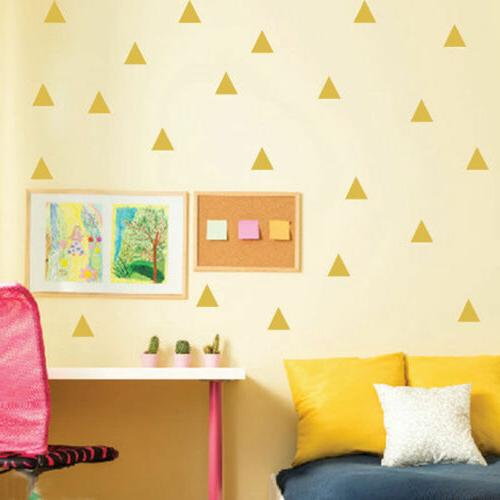Triangle Removable Wall Decals Decoration Wall Decor