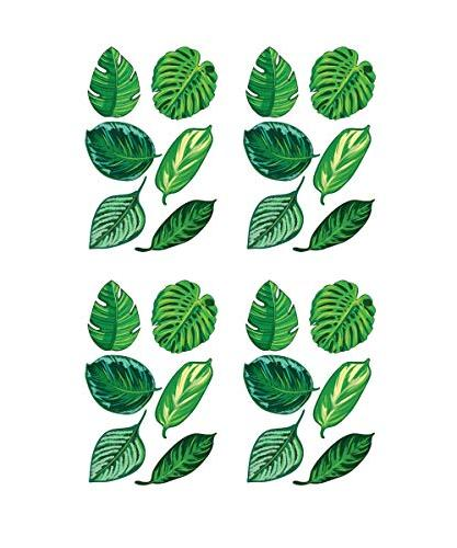 tropical plant leaves wall decal
