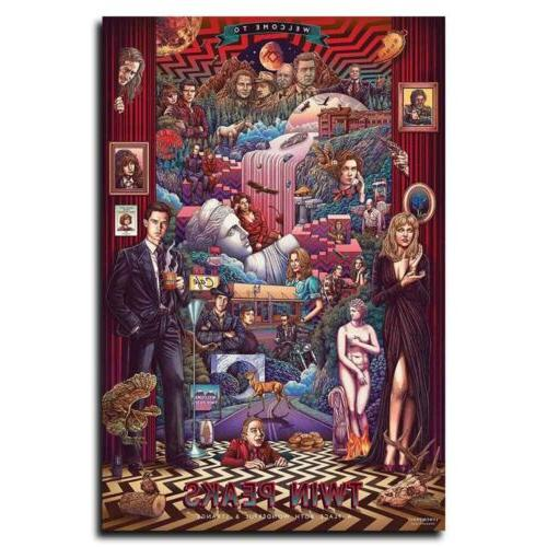 twin peaks 12x18inch tv shows silk poster