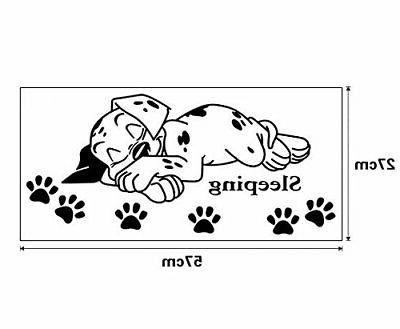 ufengke Cute Puppy Paw Wall Decals, Room