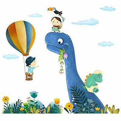ufengke dinosaur stickers wall hot air balloons