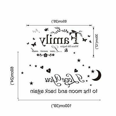 """ufengke """"Family You Sayings Decals Decor"""