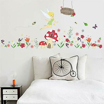 Ufengke Flower Stickers Fairy Wall Decals Art Decor ""