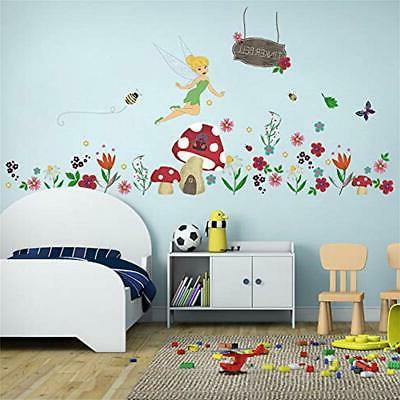 ufengke flower stickers fairy wall mushroom house
