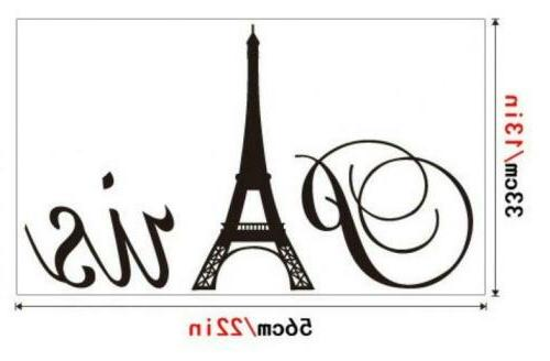 "ufengke® ""Paris"" Tower Wall Decals, Living Bedroom Removable..."