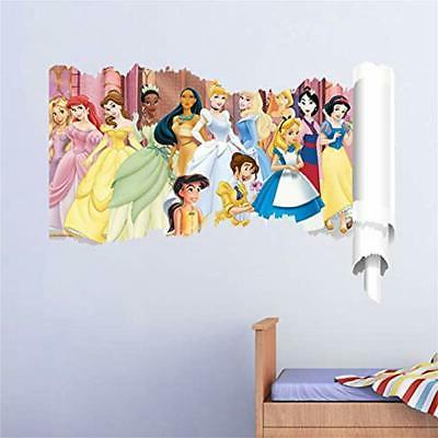 ufengke princess stickers wall 3d scroll decals