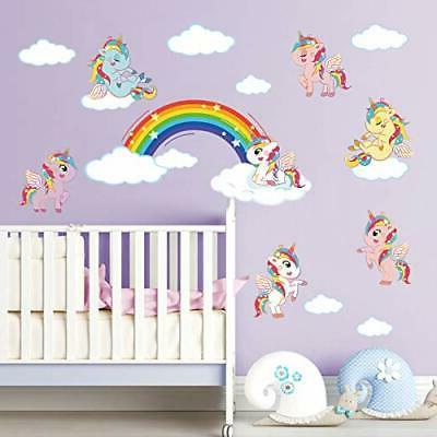 ufengke Stickers DIY Cloud Decals Art for